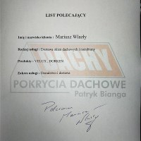 Mariusz Wlazły - letter of reference